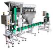 Filling machine NP2 with dosing weigher MV2/4, packaging inserter VO1 and closing device UZ1